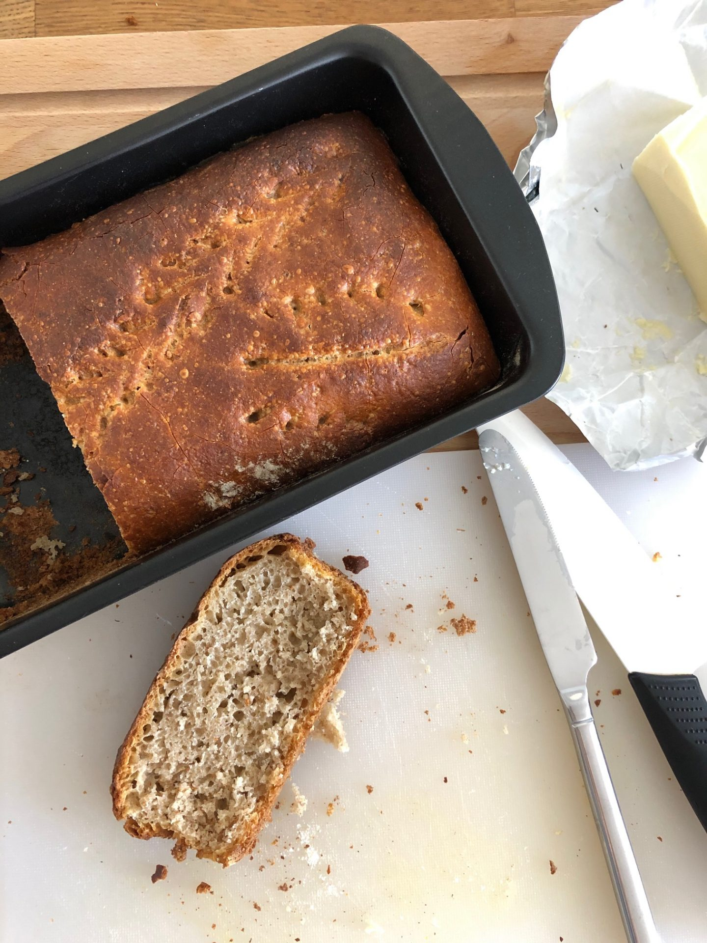 Peka kruha z drožmi - drugi poskus