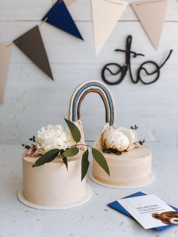 Zabava za prvi rojstni dan_vabilo in torta