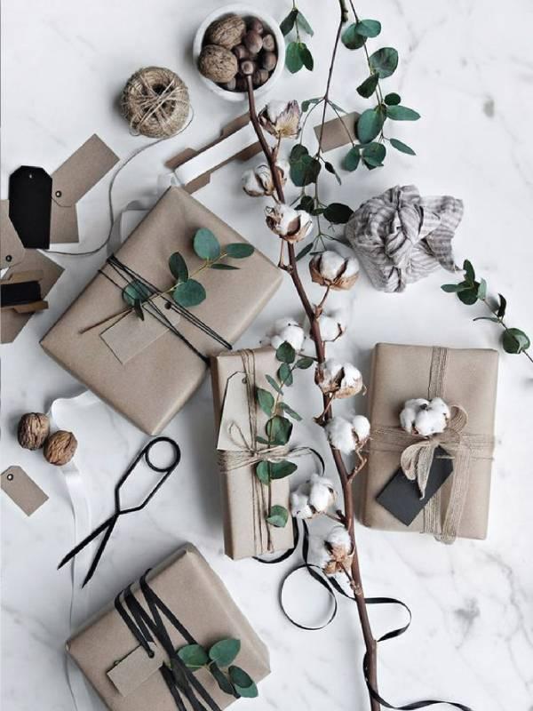 Dekoriranje daril z naravnimi elementi
